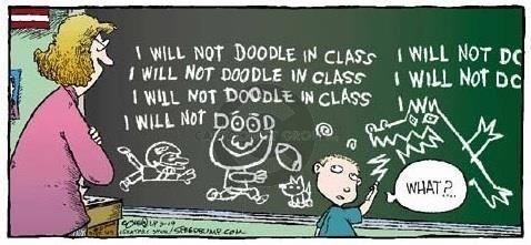 Kids doodling